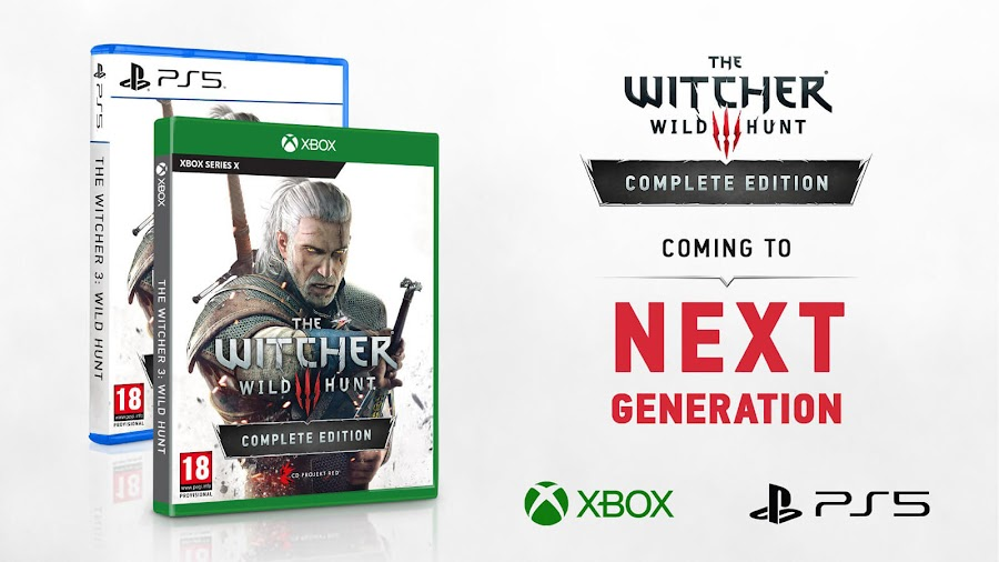 the witcher 3 next-gen consoles ps5 xbox series x complete edition visual upgrade ray tracing blood and wine hearts of stone dlc expansion pack action role-playing game cd projekt red pc ps4 xb1