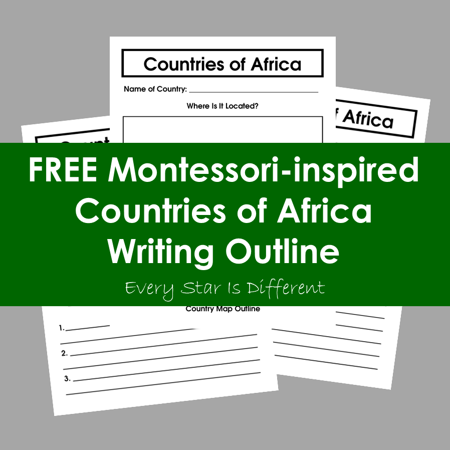 Countries of Africa Writing Outline