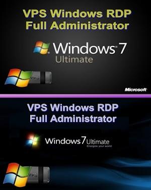 VPS Windows RDP 1CPU/RAM2GB windows 7