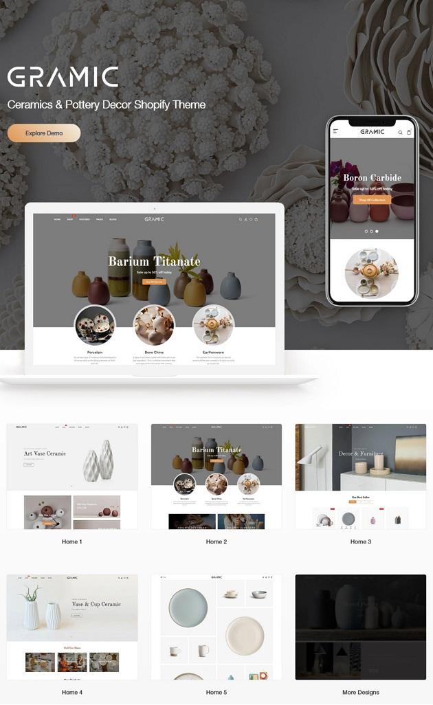 Download Ceramics & Pottery Decor Theme