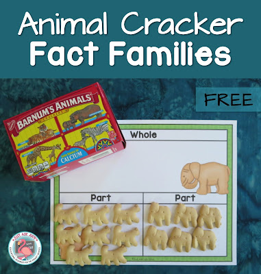 Animal Cracker Fact Families is a hands-on, engaging way to introduce or practice addition and subtraction fact families using a part/ part/ whole mat to help develop conceptual understanding.