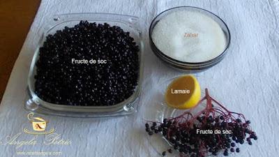 Dulceata din fructe de soc - etapa 1