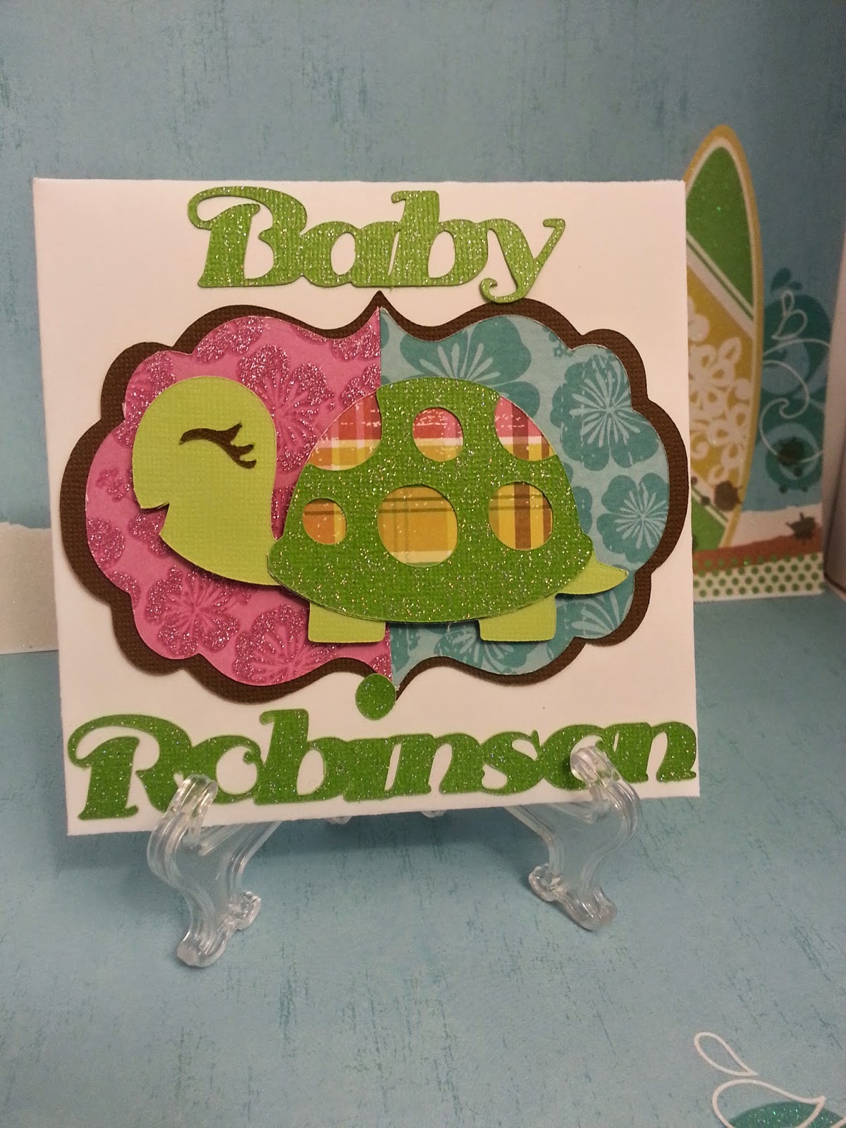 Cards By Whitney Luau Gender Reveal Turtle Baby Shower