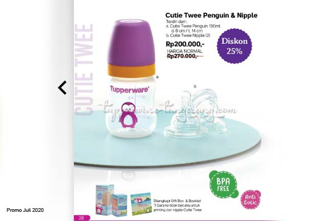 Promo Tupperware Juli 2020  Edit botol susu anak, dot tupperware, nipple tupperware