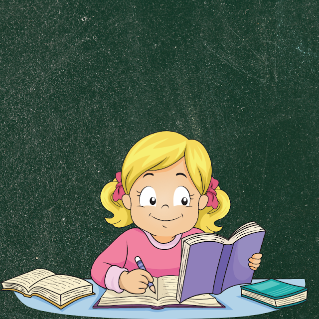 Gambar Kartun Anak Belajar di Rumah (12)