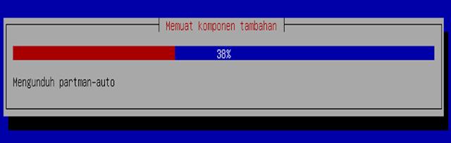 Instalasi Debian - Loading membuat komponen tambahan