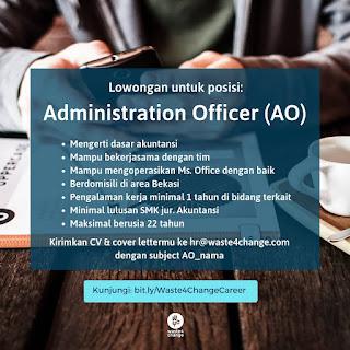 Info Lowongan Kerja Waste4Change Administration Officer Bekasi