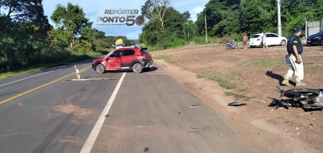 Vídeo mostra colisão entre carro e moto que deixou casal morto na BR-343 em Teresina