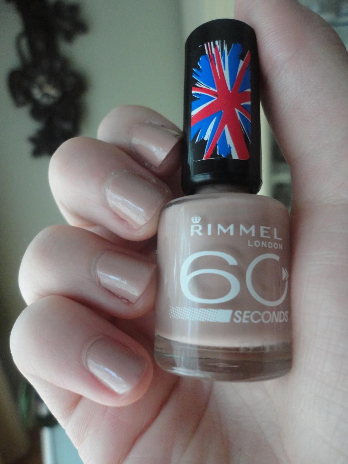 Rimmel 60 Seconds Nail Polish in Caramel Cupcake | Natalie Loves Beauty