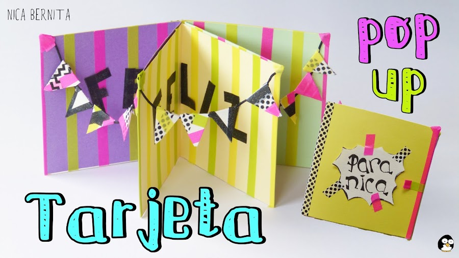 Tarjeta de cumpleaños, tarjeta pop up Nica Bernita