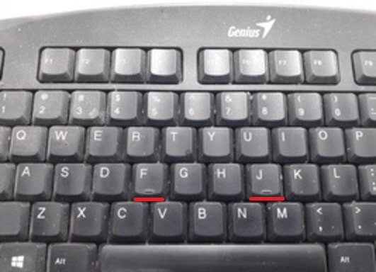 Keyboard Bumps On F and J Letters