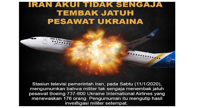 Menyesal Tembak Jatuh Pesawat Ukraina, Iran Akan Bayar Kompensasi