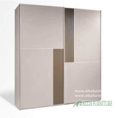 lemari pakaian minimalis modern brown