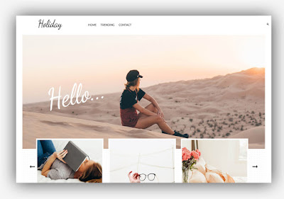 Holiday Blogger Template 100% Responsive Lifestyle Blog