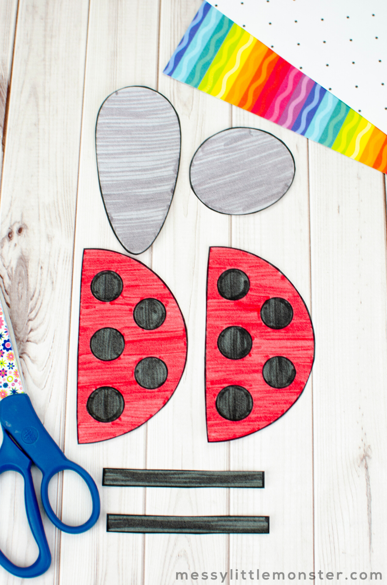 ladybug craft insect template