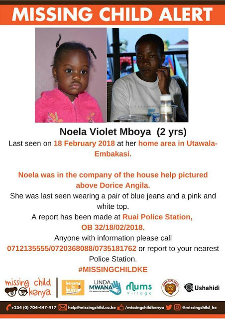Photos: Nanny disappears with employer's two year old daughter