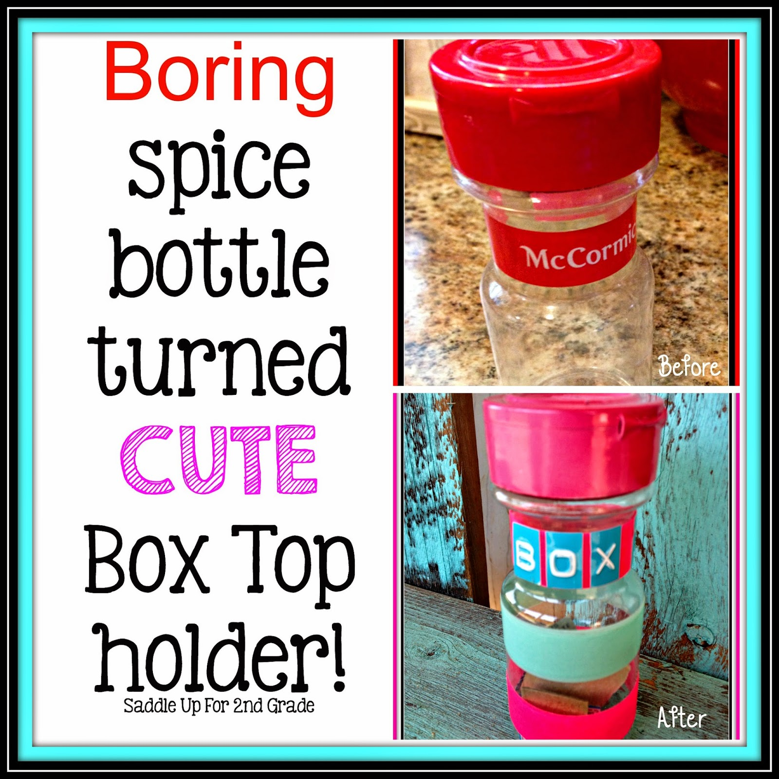 Boring Spice Bottle Turned Cute Box Top Holder by Saddle Up For 2nd Grade