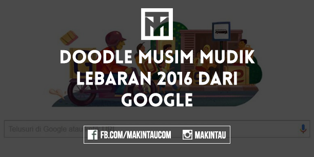 Musim Mudik 2016 Jadi Google Doodle Hari Ini