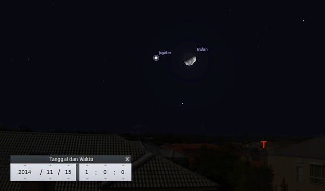 """Bulan dan Jupiter Bakal """"Kencan"""" Sabtu (15/11) Dinihari, Ini Cara Melihatnya"""