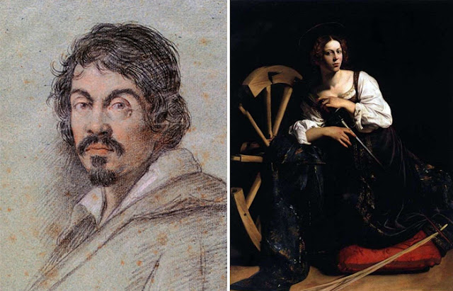 """Retrato de Caravaggio pintura """"Santa Catarina de Alexandria"""""""