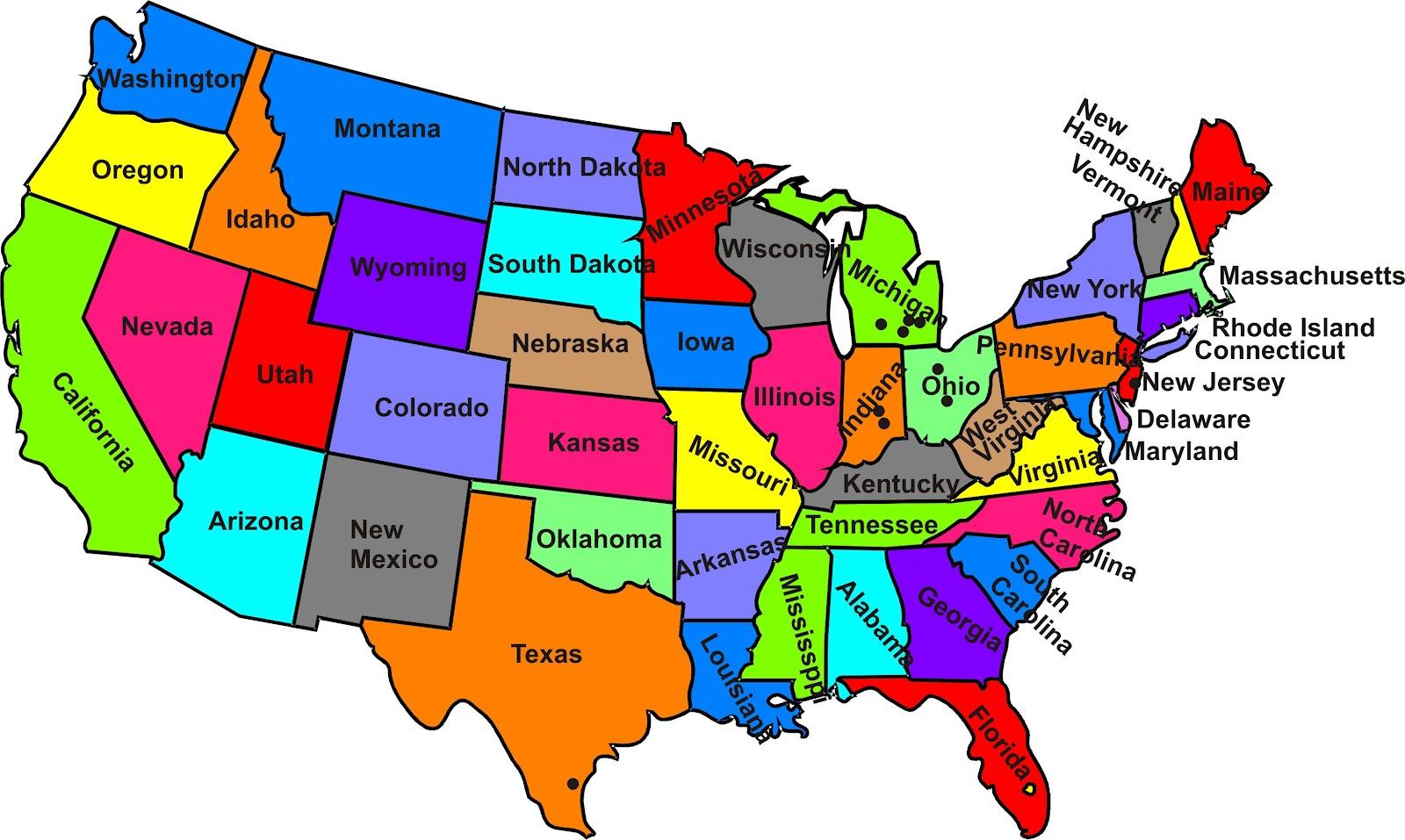 50 States Map Test