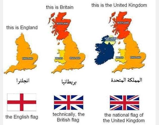تعرف على الفرق بين المملكة المتحدة وبريطانيا وإنجلترا