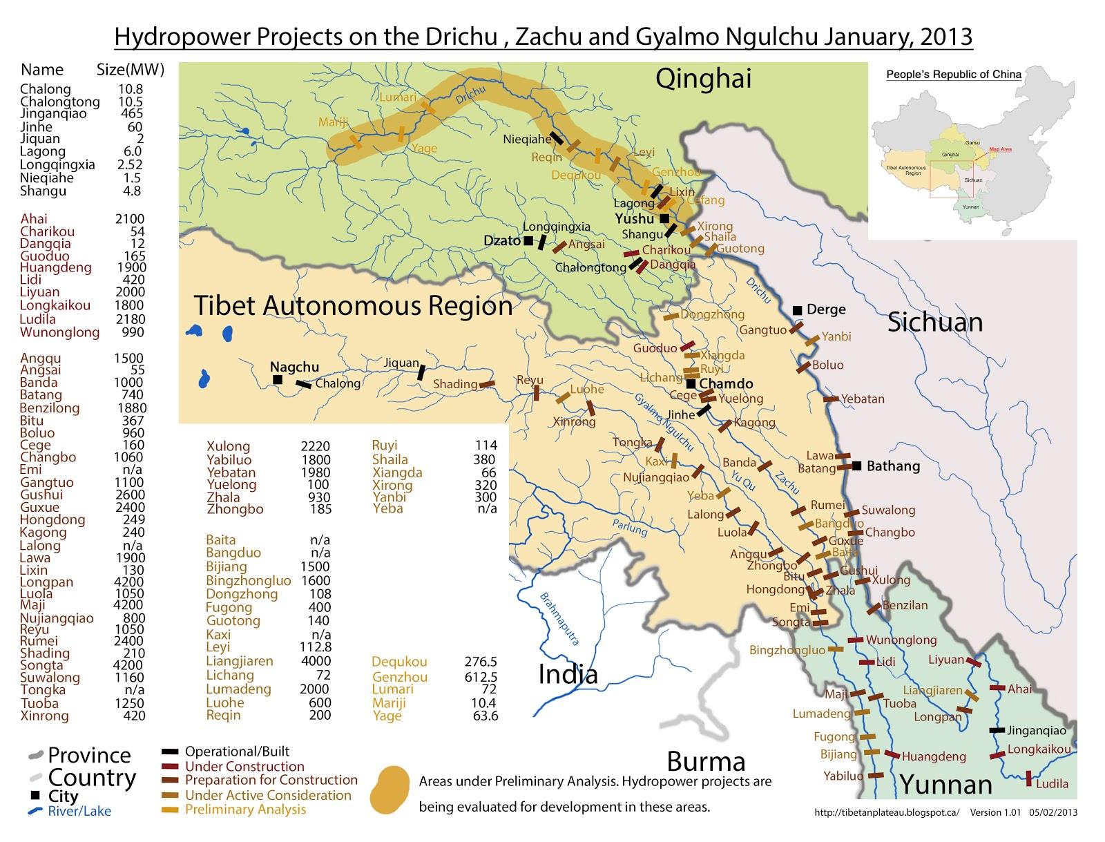 Chinese Dam Maps | WLE Mekong