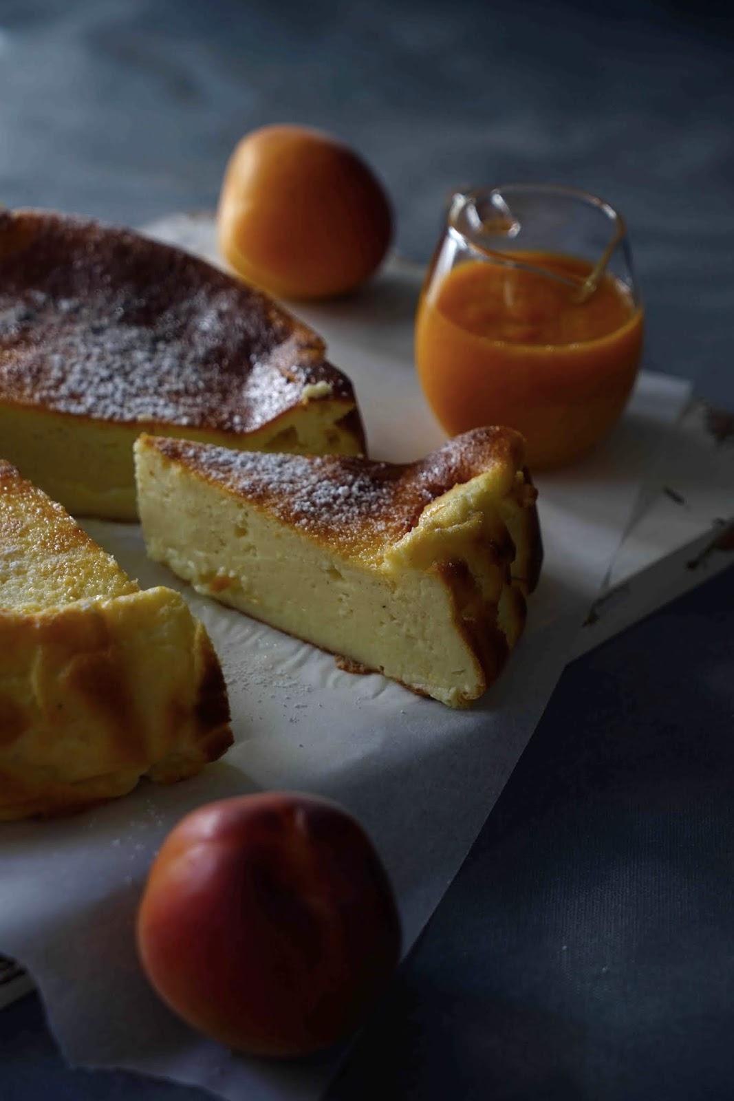 dessert au fromage blanc , gâteau leger , gouter maison , cheesecake