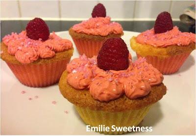 Cupcakes coco-framboises