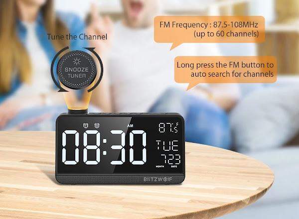 Queres um despertador inteligente? Vê este BlitzWolf BW-LAC1