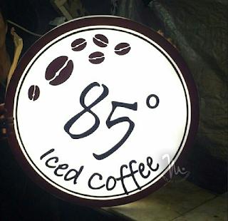 Neonbox acrylic bulat ice coffe 85 Serang Banten