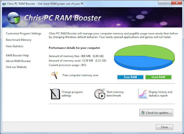 Screenshot Chris-PC RAM Booster 5.40 Full Version