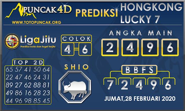 PREDIKSI TOGEL HONGKONG LUCKY7 PUNCAK4D 28 FEBRUARI 2020