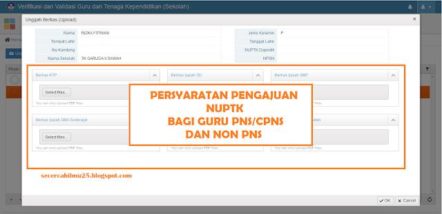 Persyaratan Pengajuan NUPTK Bagi Guru PNS/CPNS dan Non PNS