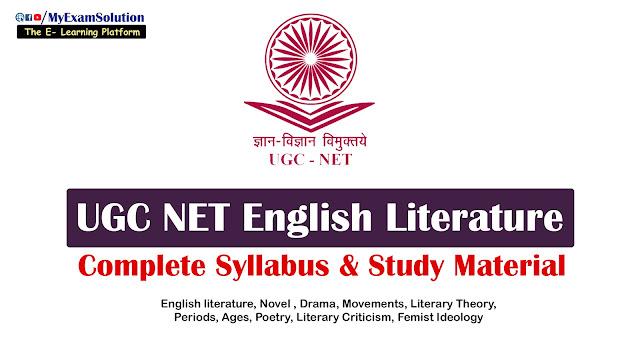 english literature syllabus for ugc net, ugc net in english