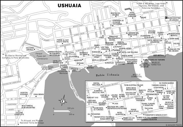 Ushuaia city map