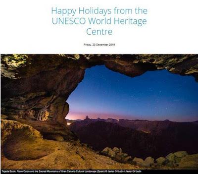 Foto de la cumbre de Gran Canaria con la que laUNESCO  ha felicitado por Navidad al mundo / Foto: Nacho Gonzalez oramas