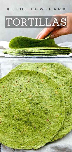 Keto, Low-Carb Spinach Tortillas