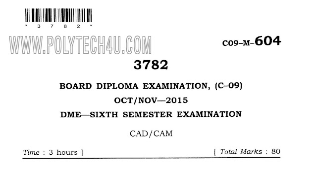c-09 dme cad/cam 6th semester oct/nov-2015 previous question papers