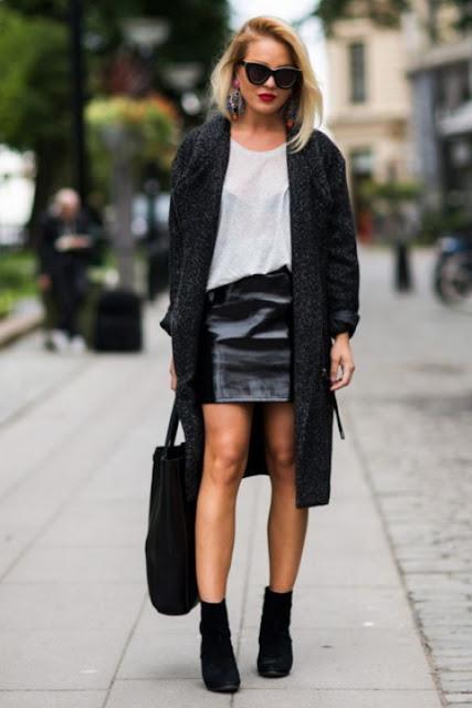 С чем носить кожаную юбку 7-2