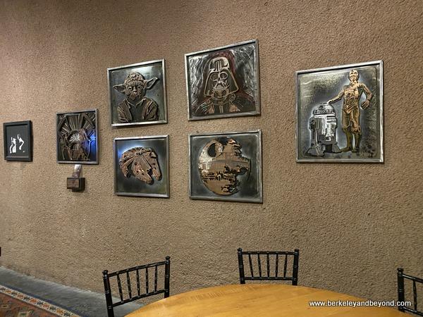 """Star Wars"" art for sale in cave tasting room at Deerfield Ranch Winery in Kenwood, California"