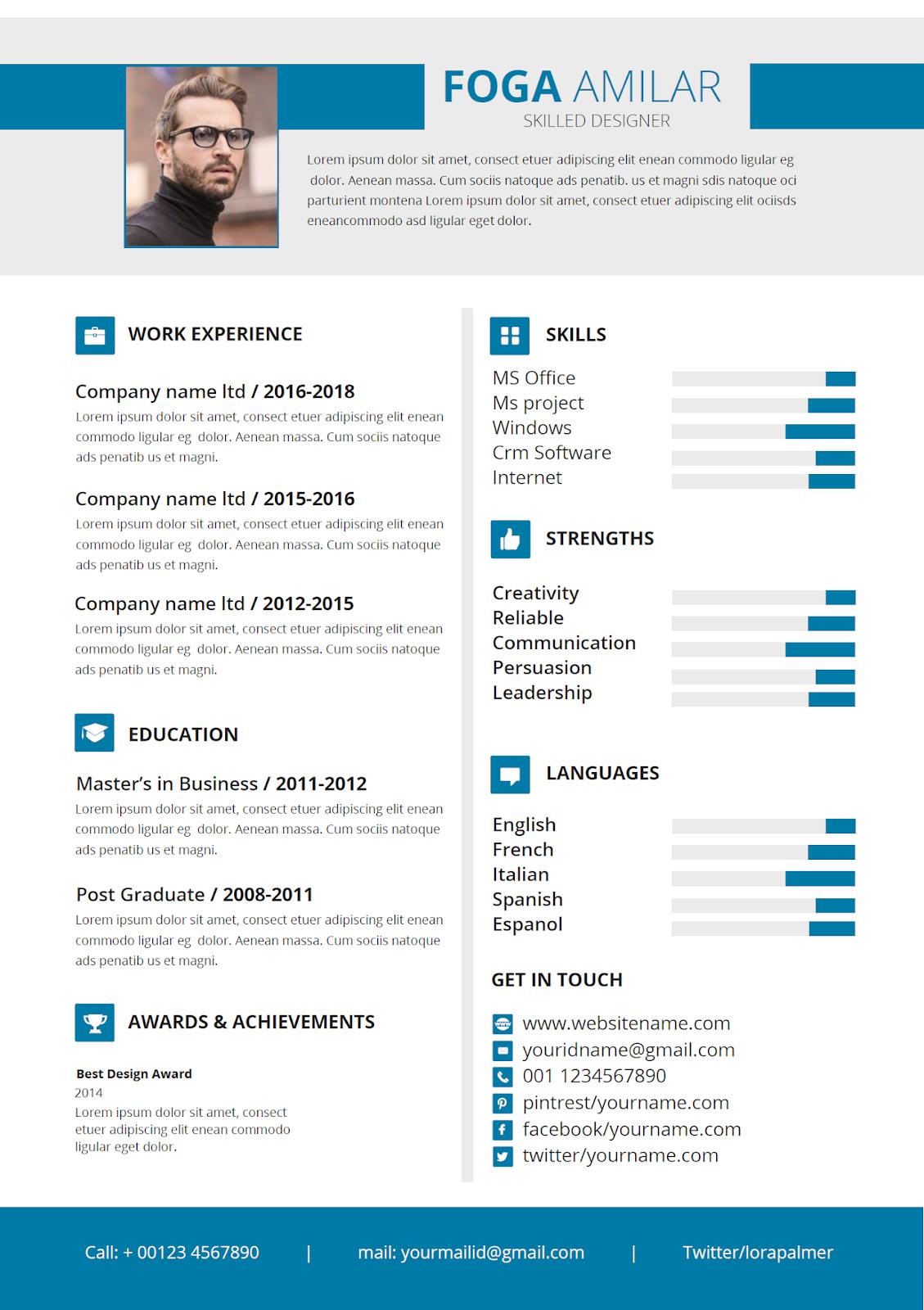 scannable resume template microsoft word