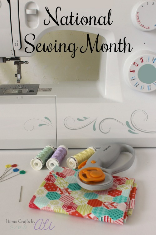 National Sewing Month sewing supplies