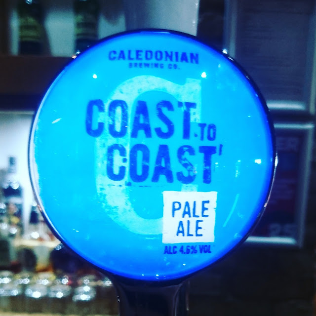 Midlothian Craft Beer Review: Coast to Coast from Caledonian real ale pump clip