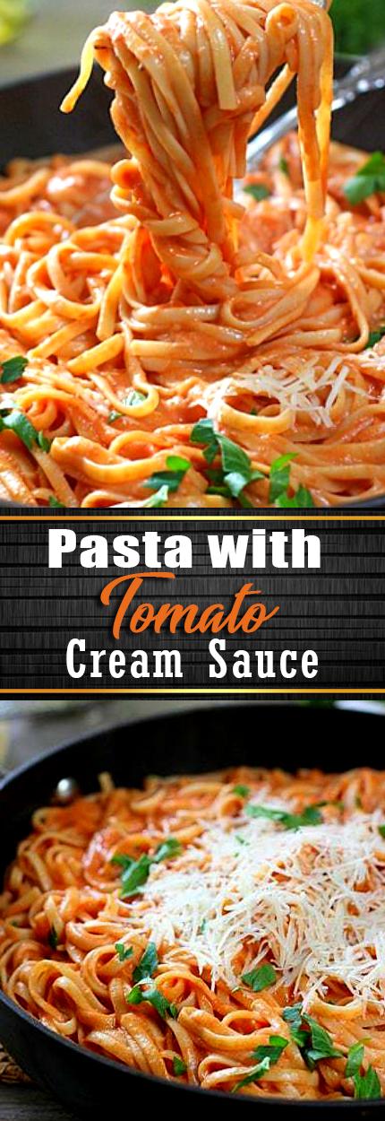 Pasta with Tomato Cream Sauce