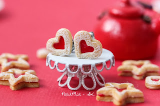 Strawberry Jam Heart Cookies