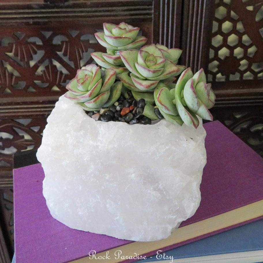 Vasos de quartzo na decoração