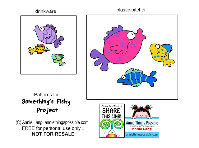 Annie Lang's Free Something's Fishy Character Art Craft and painting Pattern because Annie Things Possible!