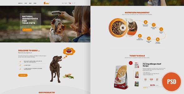 Pet Food Shop PSD Template