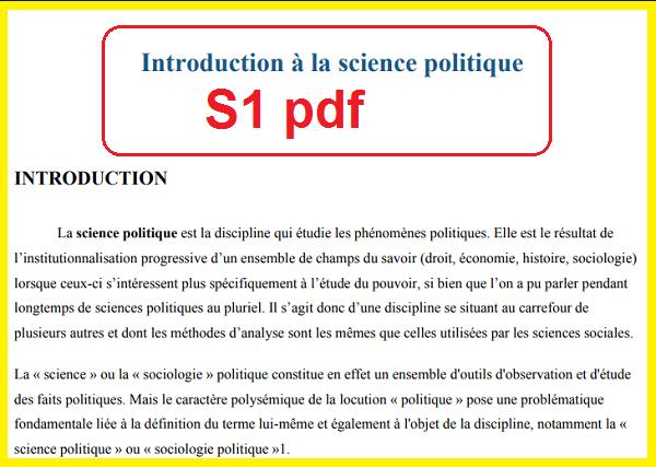 résumé Introduction science politique S1 pdf